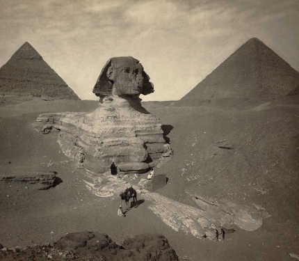 Sphinx 1878 - Partially Excavated