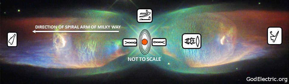 The origins of an emerging bipolar planetary nebula