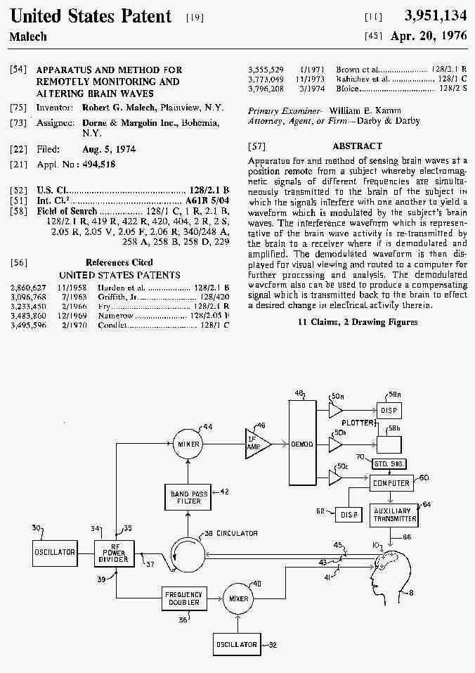 Remote Neural Monitoring Patent