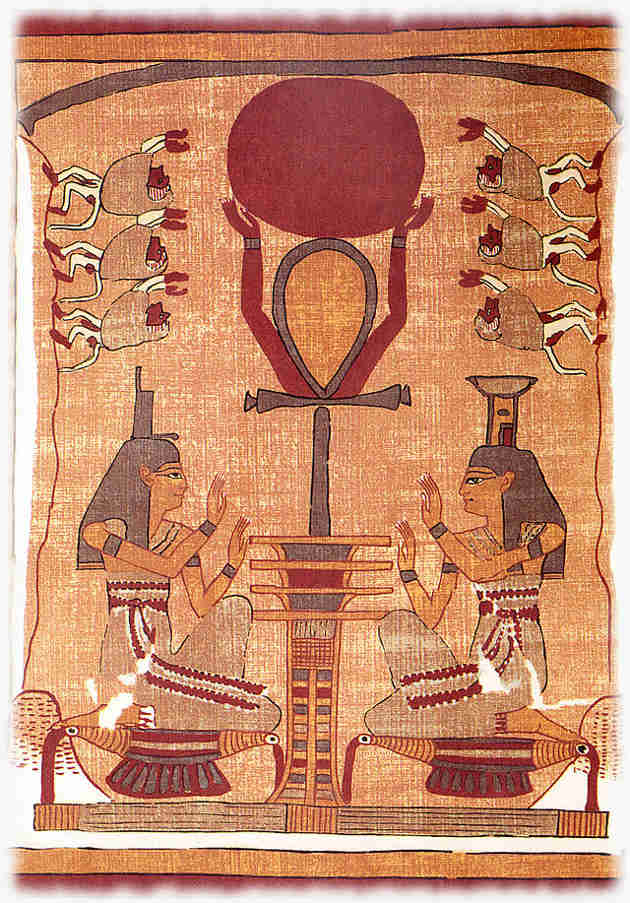 Nephthys and Isis as the Electric Sun