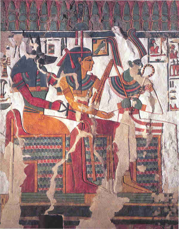 Nefertari North Side Chamber K - Anubis Amentet Osiris