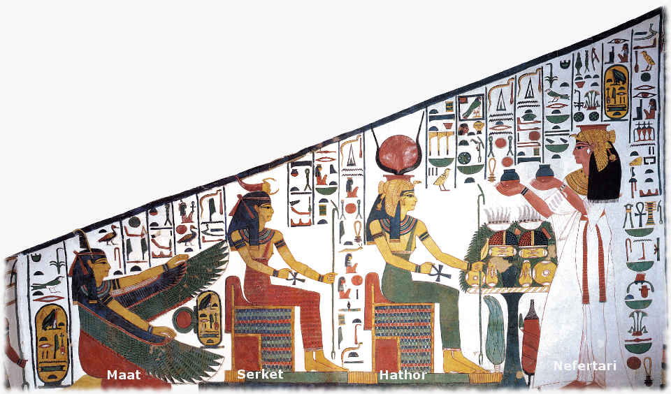 Nefertari Tomb - Electric Sun - Maat Serket Hathor